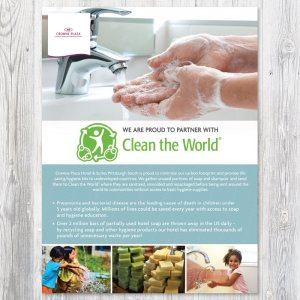 Clean the World Print Collateral