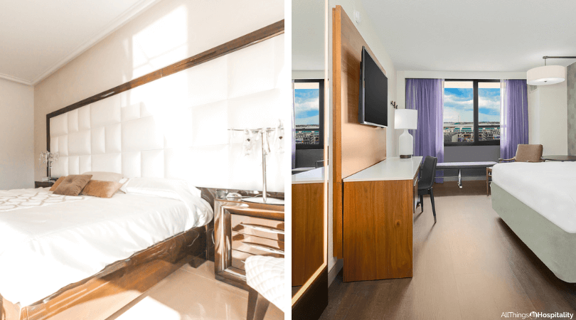 hotel photography example of guestroom with natural light