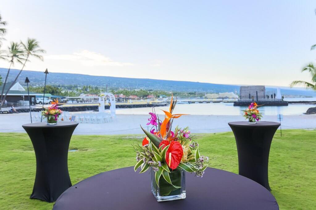 Hawaii Beach Wedding Reception