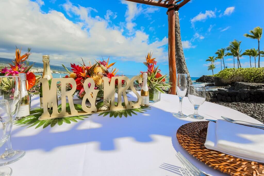 Hawaii Beach Wedding Reception
