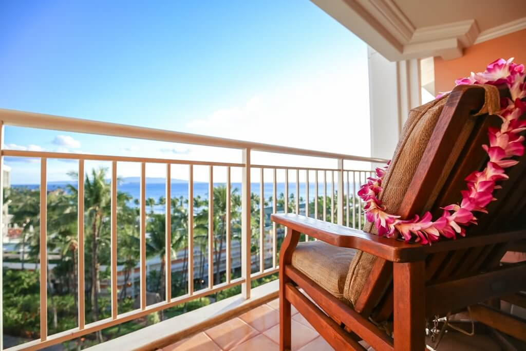 Balcony View at Hawiian Resort