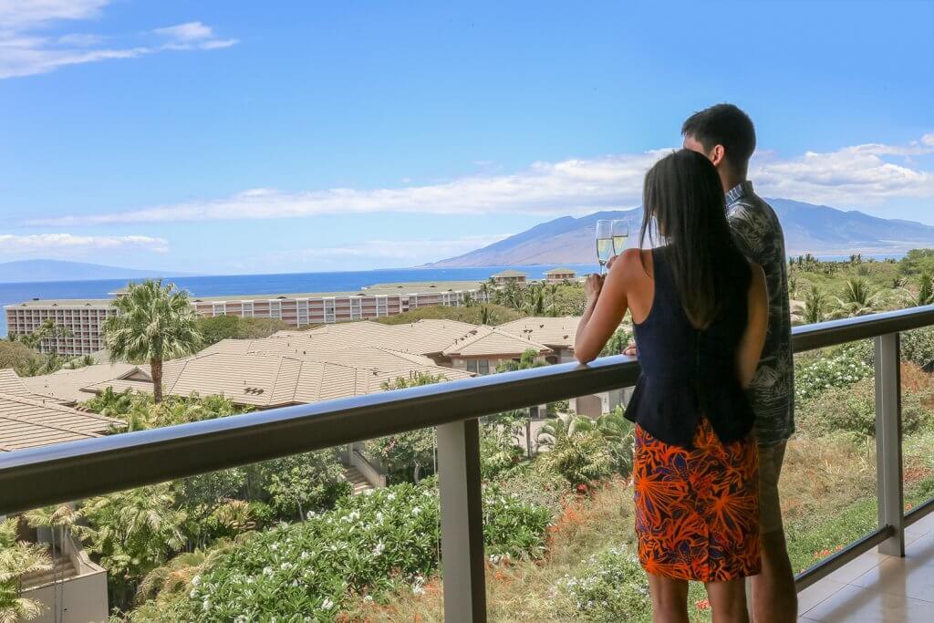 Hooleai balcony featuring a couple at a hawaiian resort