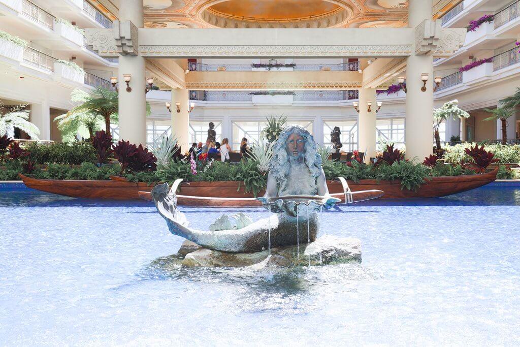 Mermaid Fountain at Hawaiian Resort