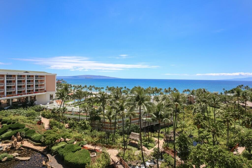 Ocean View from Hawaiian Resort