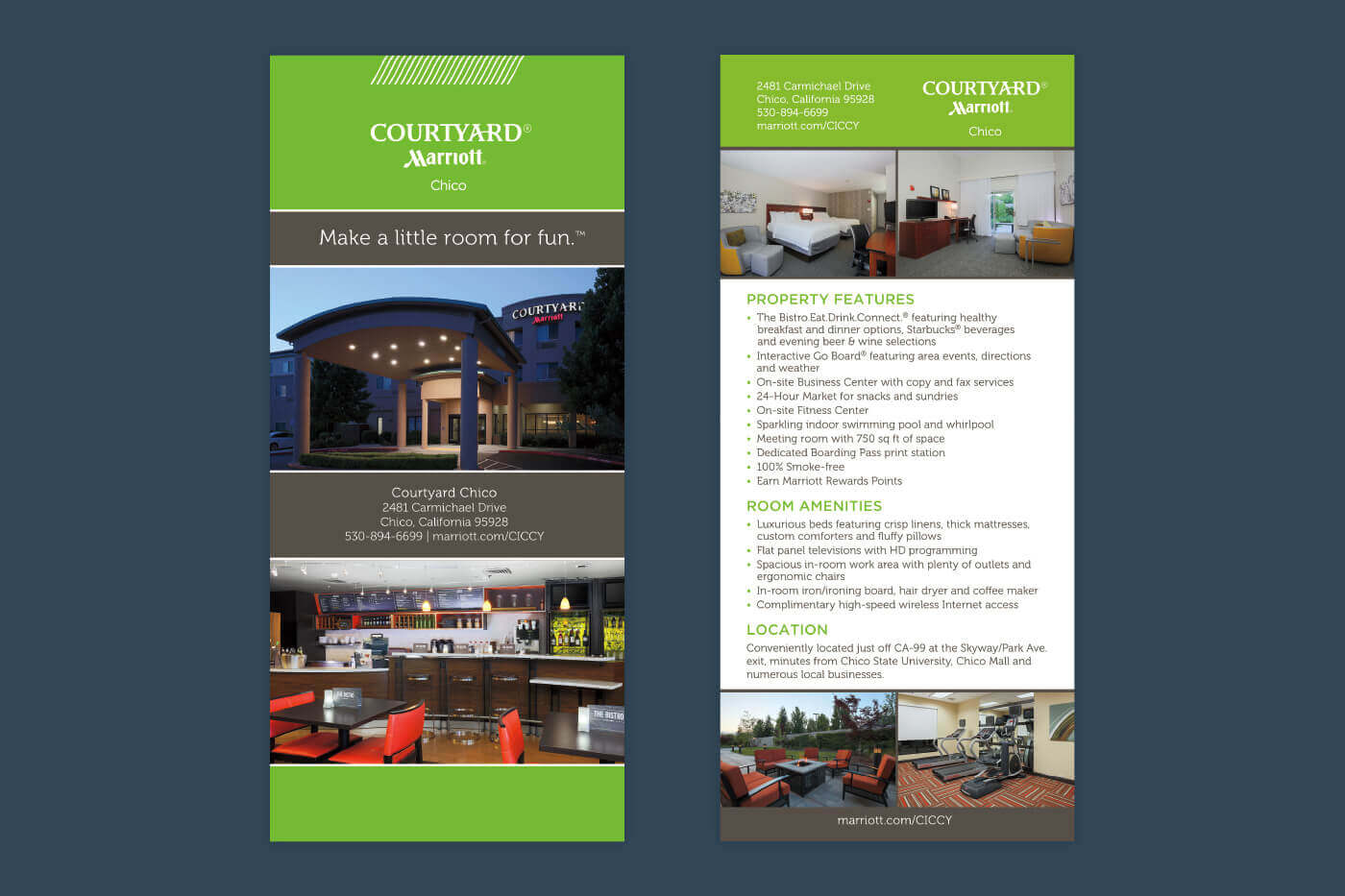 Marketing Collateral - Courtyard Chico Rackcard