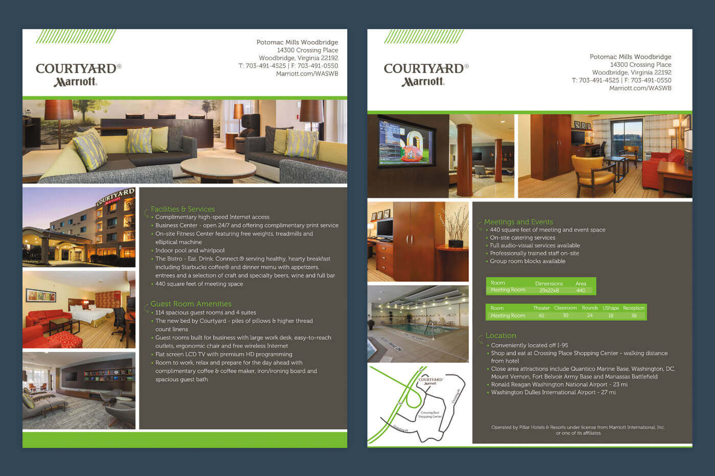 Marketing Collateral - Courtyard Potomac Mills Woodbridge Factsheet