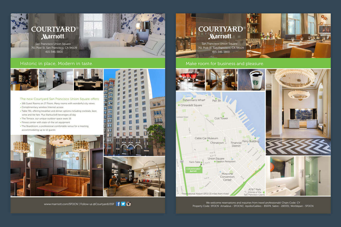 Print Collateral - Courtyard San Francisco Union Square Brochure