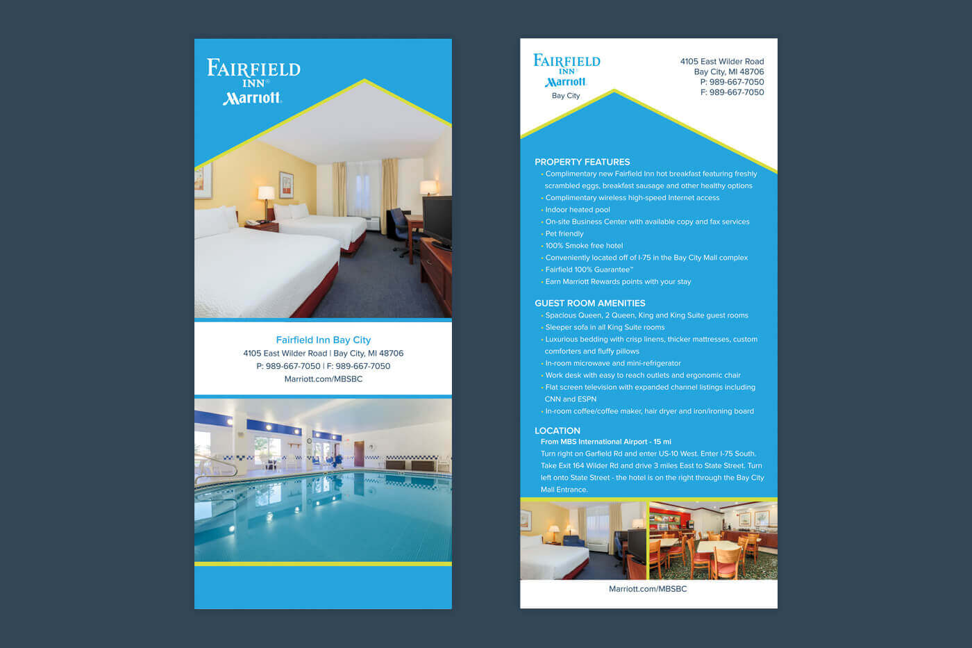 Marketing Collateral - Fairfield Inn Bay City Rackcard