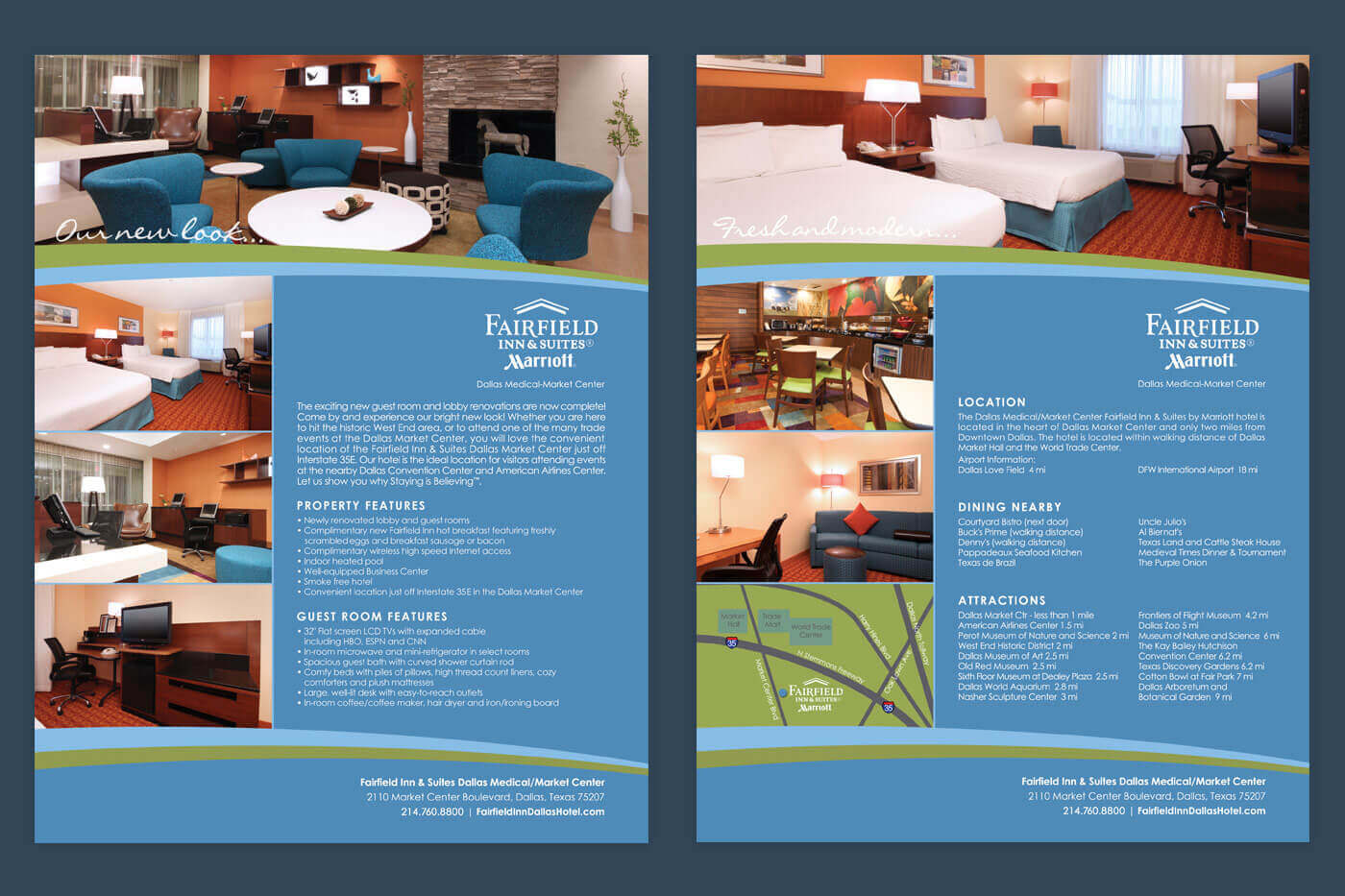 Print Collateral - Fairfield Inn & Suites Dallas Medical/Market Center Factsheet