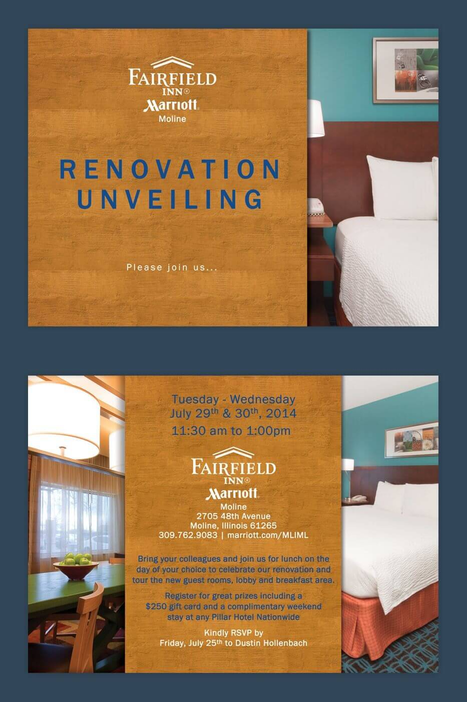 Marketing Collateral - Fairfield Inn Moline Invite