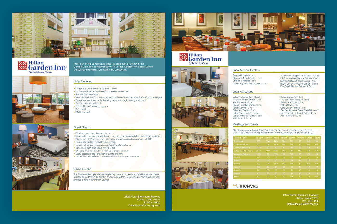 Collateral Marketing - Hilton Garden Inn Dallas/Market Center Factsheet