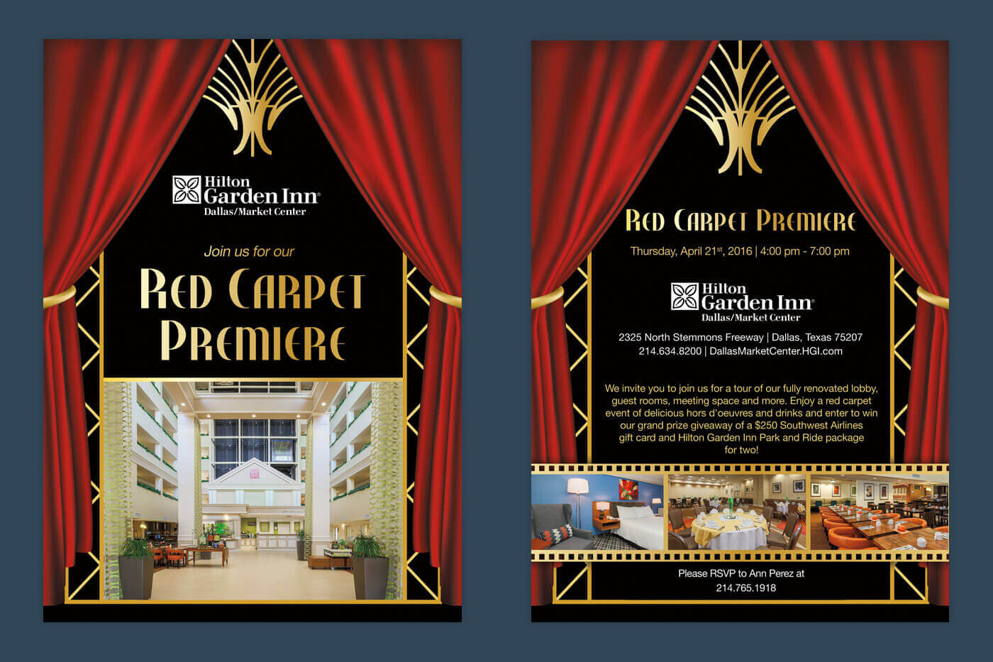 Invitation Design - Hilton Garden Inn Dallas/Market Center