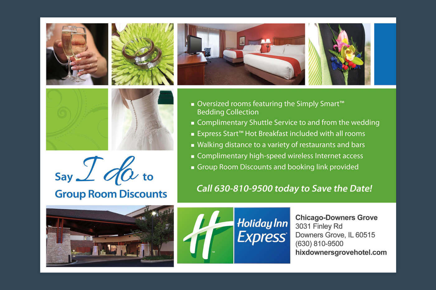Collateral Design - Holiday Inn Express Chicago-Downers Grove