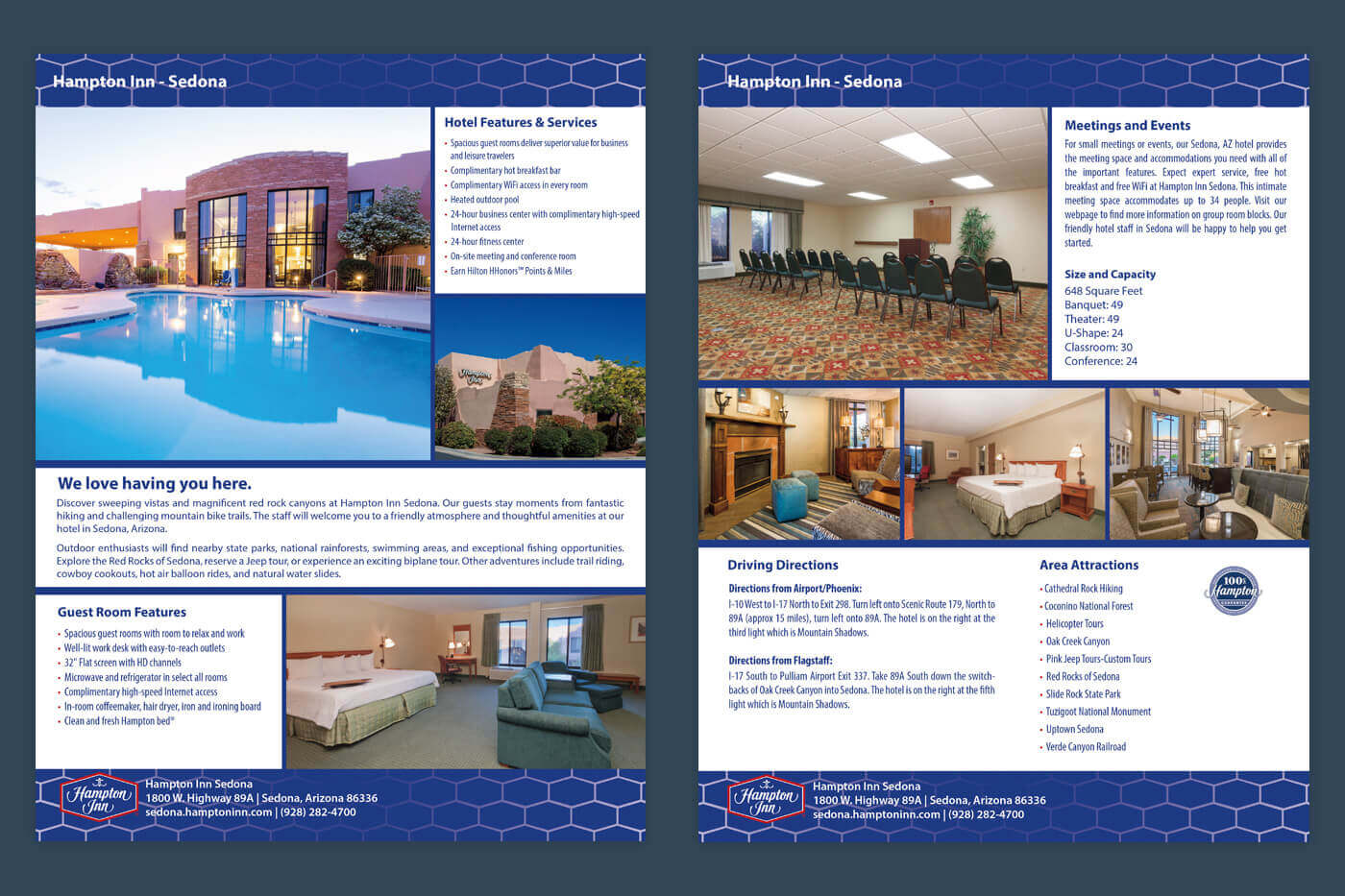Collateral Marketing - Hampton Inn Sedona Factsheet