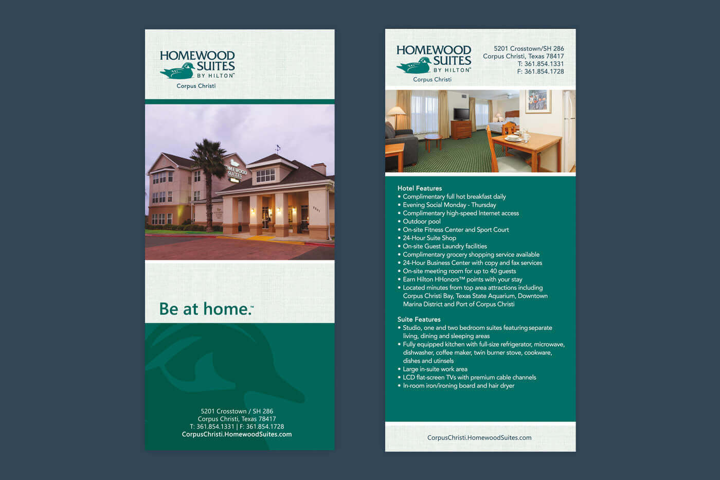 Marketing Collateral - Homewood Suites Corpus Christi Rackcard