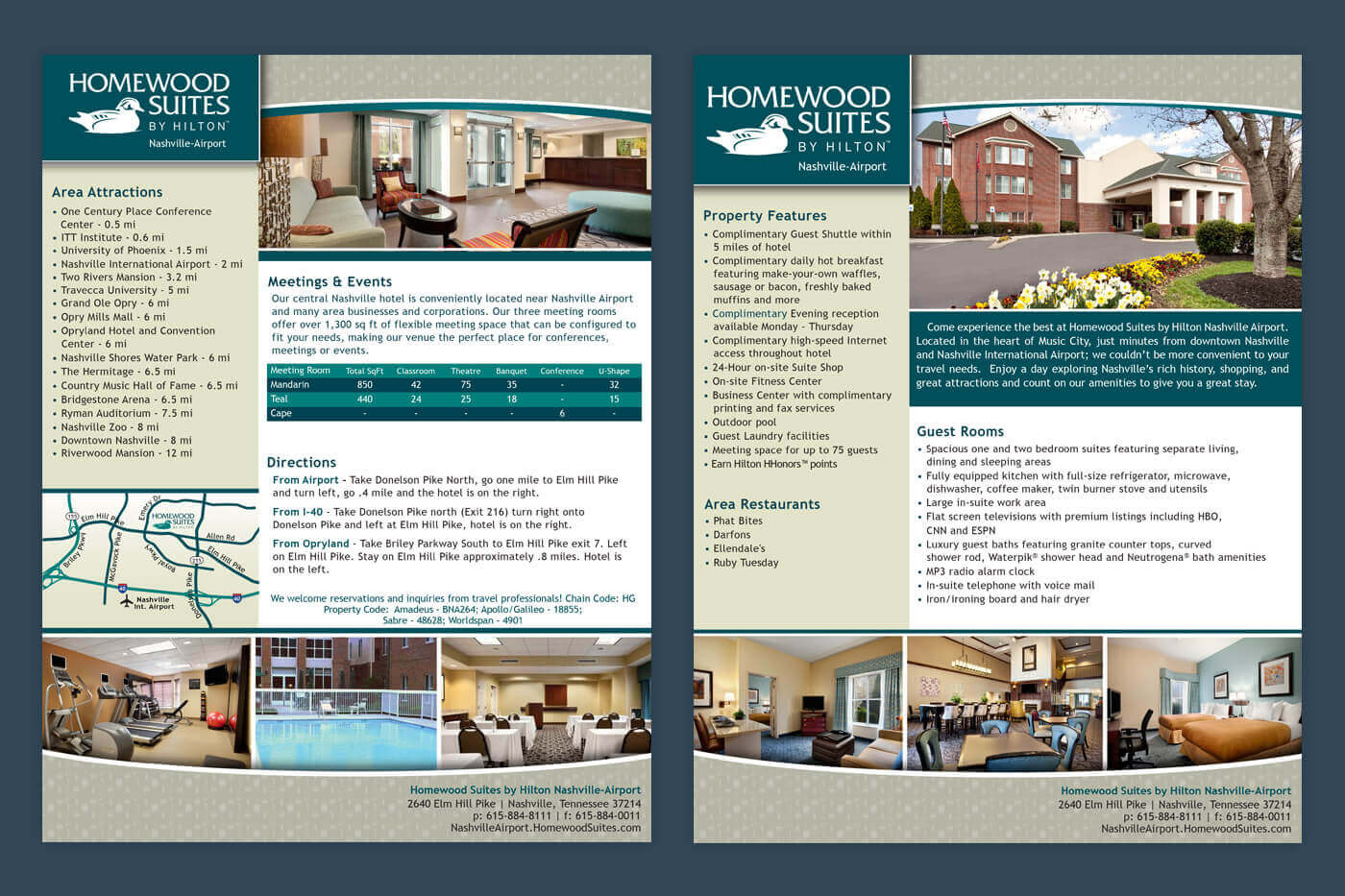Advertising Collateral - Homewood Suites Nashville-Airport Brochure
