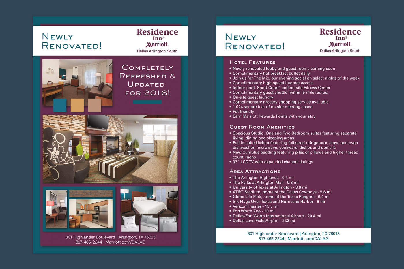 Flyer Design - Residence Inn Dallas Arlington South