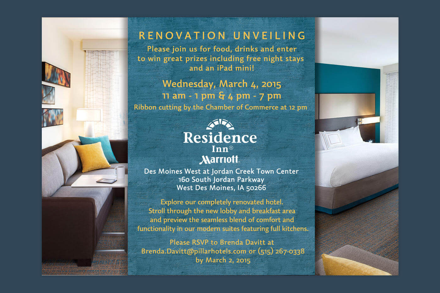 Collateral Invitation Design - Residence Inn Des Moines West
