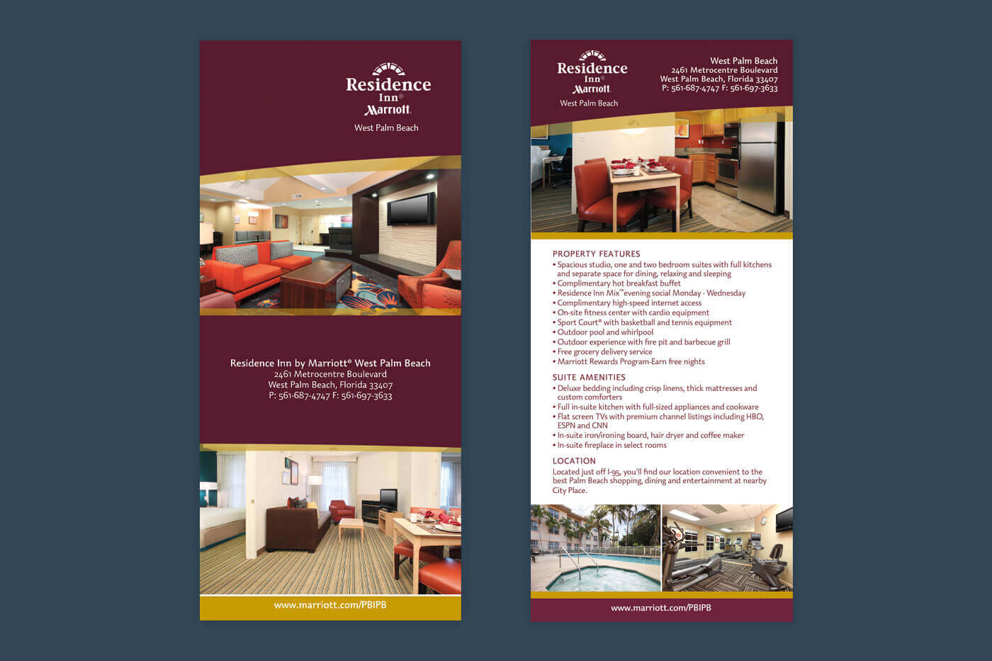 Marketing Collateral - Residence Inn West Palm Beach Rackcard