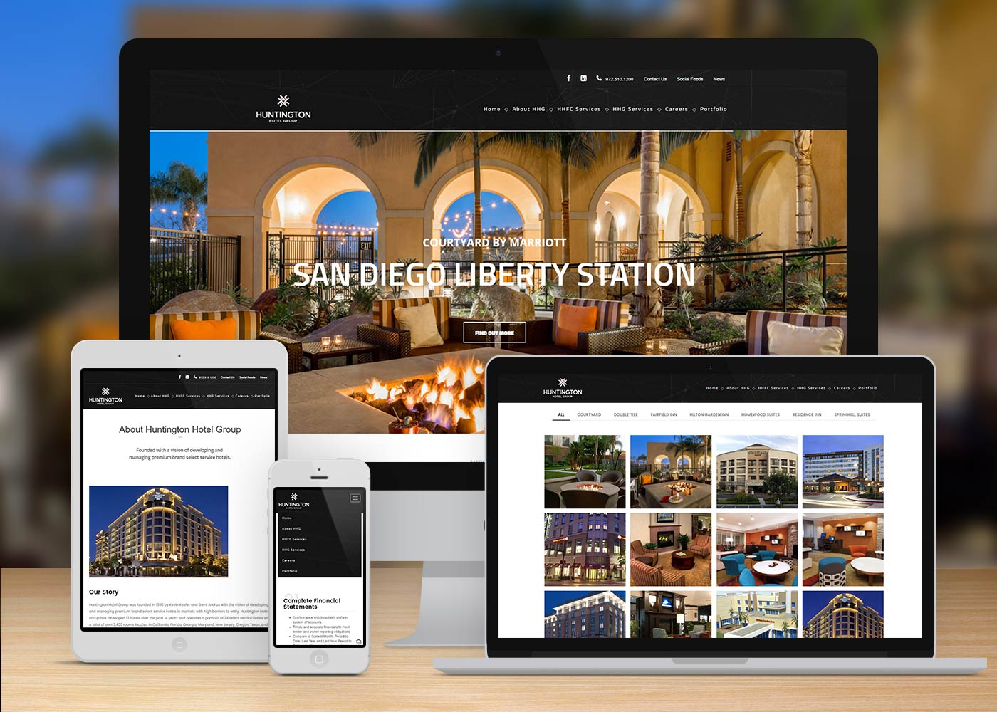 ATH Website Design and Development - Huntington Hotel Group