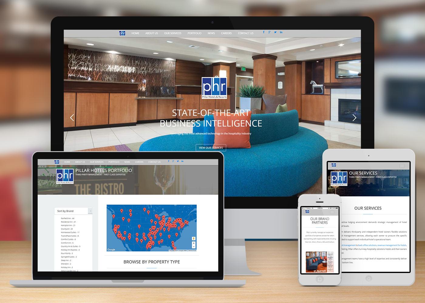 Web Design Pillar Hotels Resorts